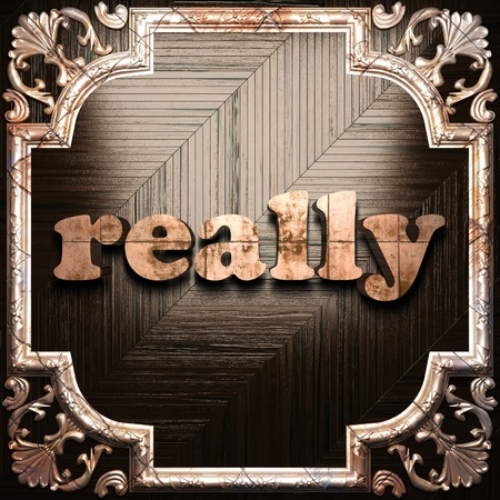 really: word with classic ornament made in 3D Stock Photo