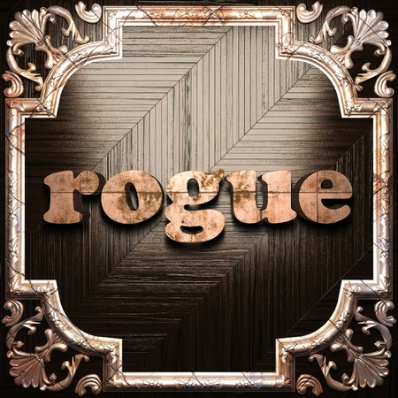 rogue: word with classic ornament made in 3D Stock Photo