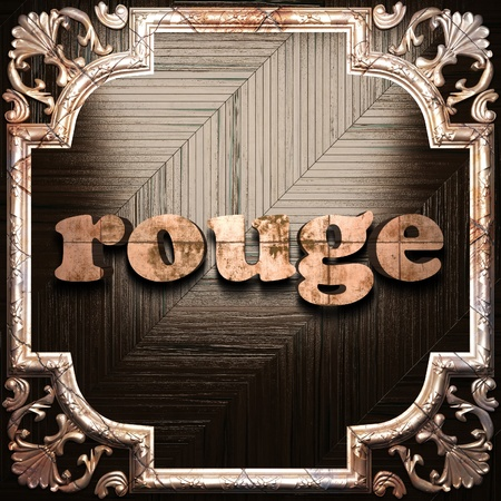 rouge: word with classic ornament made in 3D Stock Photo