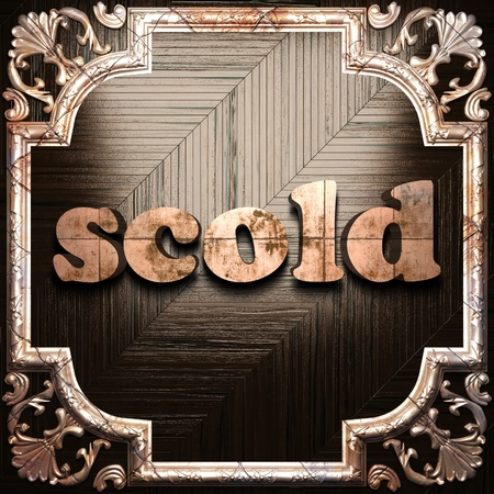 scold: word with classic ornament made in 3D Stock Photo