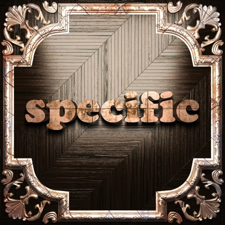 specific: word with classic ornament made in 3D Stock Photo