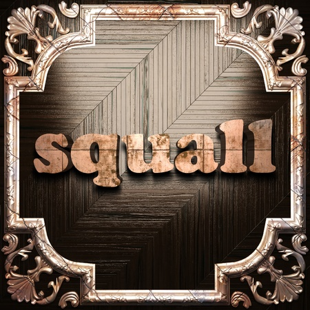 squall: word with classic ornament made in 3D Stock Photo