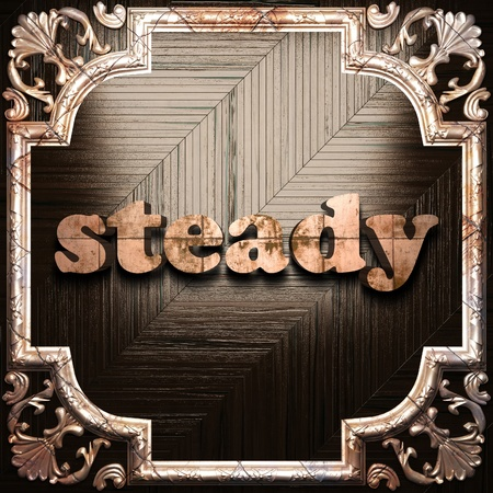 steady: word with classic ornament made in 3D Stock Photo