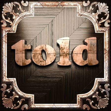 told: word with classic ornament made in 3D Stock Photo