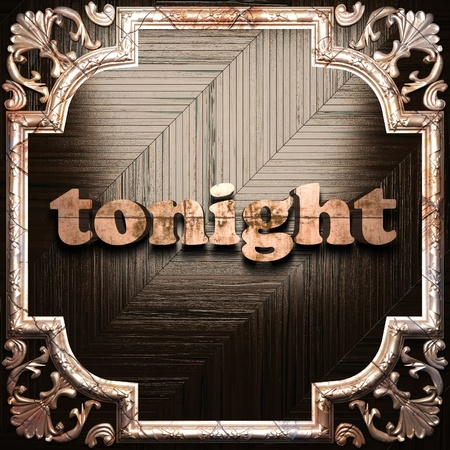 tonight: word with classic ornament made in 3D Stock Photo