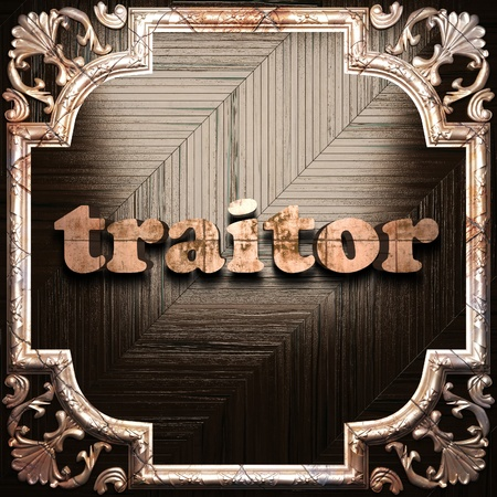 traitor: word with classic ornament made in 3D Stock Photo