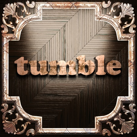 tumble: word with classic ornament made in 3D Stock Photo