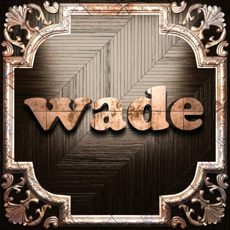 wade: word with classic ornament made in 3D Stock Photo