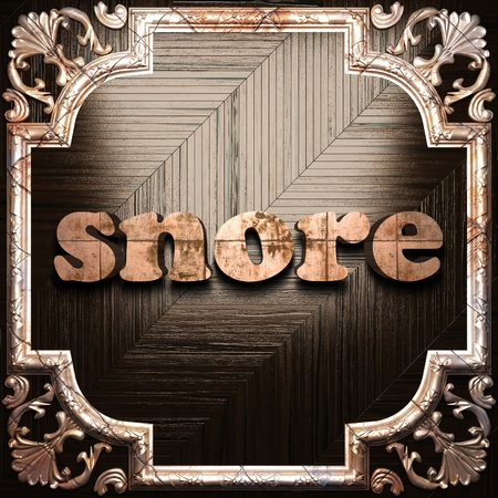 snore: word with classic ornament made in 3D Stock Photo
