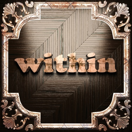 within: word with classic ornament made in 3D Stock Photo