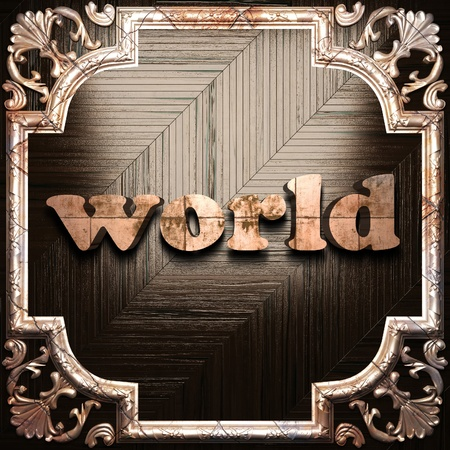 word with classic ornament made in 3D Stock Photo - 11612208