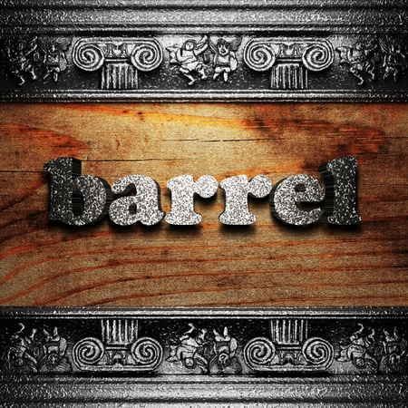iron word on wood made in 3D Stock Photo - 11665363