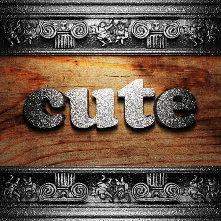iron word on wood made in 3D Stock Photo - 11663065