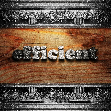 iron word on wood made in 3D Stock Photo - 11655033