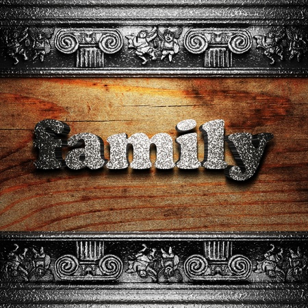 iron word on wood made in 3D Stock Photo - 11667598