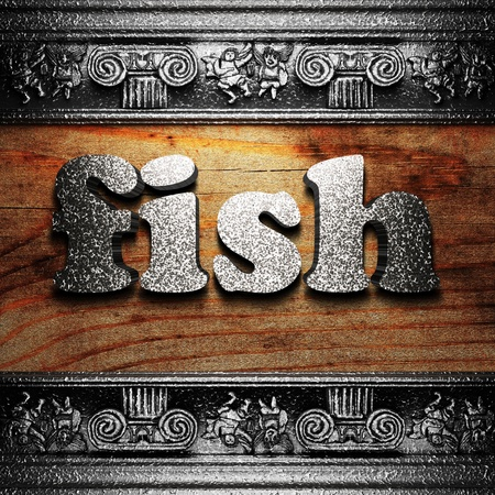 iron word on wood made in 3D Stock Photo - 11667408