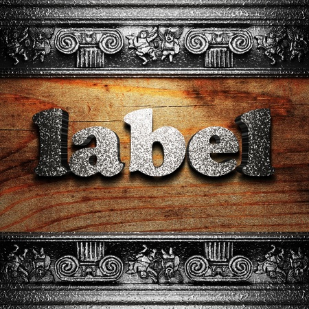 iron word on wood made in 3D Stock Photo - 11680411