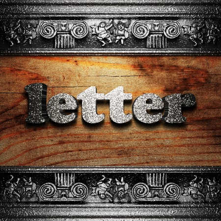 iron word on wood made in 3D Stock Photo - 11702655
