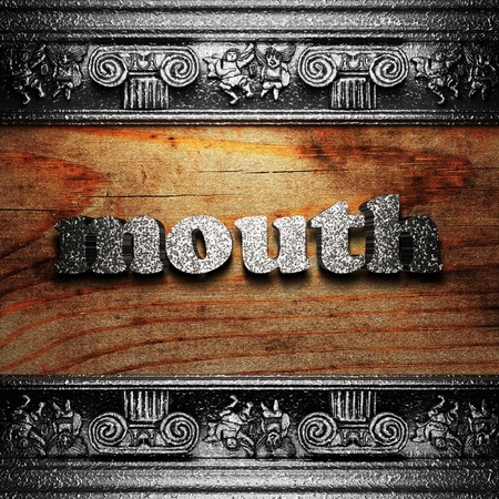iron word on wood made in 3D Stock Photo - 11702804