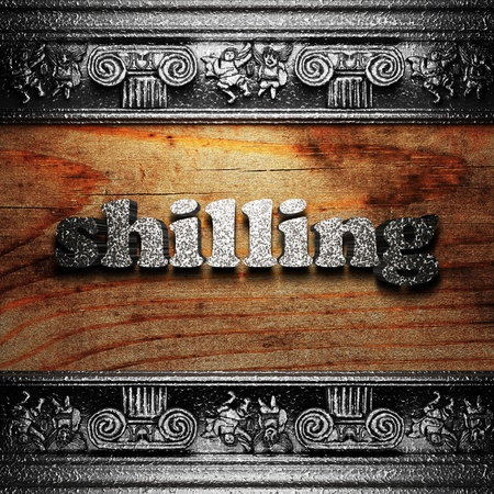 iron word on wood made in 3D Stock Photo - 11722405