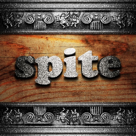 iron word on wood made in 3D Stock Photo - 11702948