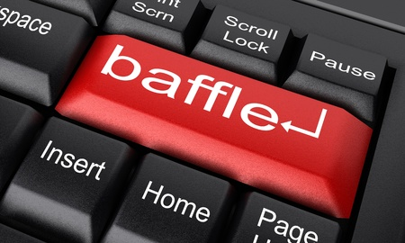 baffle: Word on keyboard made in 3D