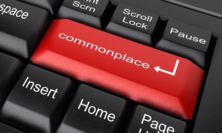commonplace: Word sulla tastiera realizzato in 3D Archivio Fotografico