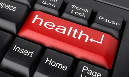 health information: Word on keyboard made in 3D