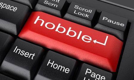 hobble: Word on keyboard made in 3D