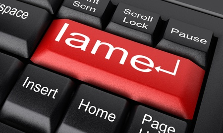 lame: Word on keyboard made in 3D