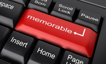 memorable: Word on keyboard made in 3D