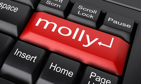 molly: Word on keyboard made in 3D