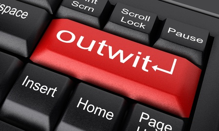 outwit: Word on keyboard made in 3D