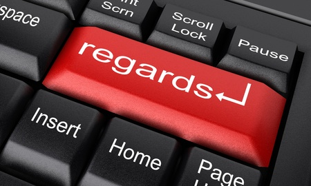 regards: Word on keyboard made in 3D