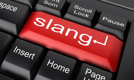 slang: Word on keyboard made in 3D