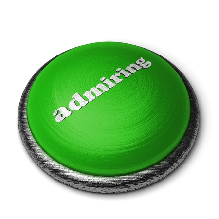 admiring: Word on the button