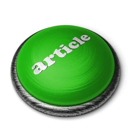 Word on the button Stock Photo - 11826592
