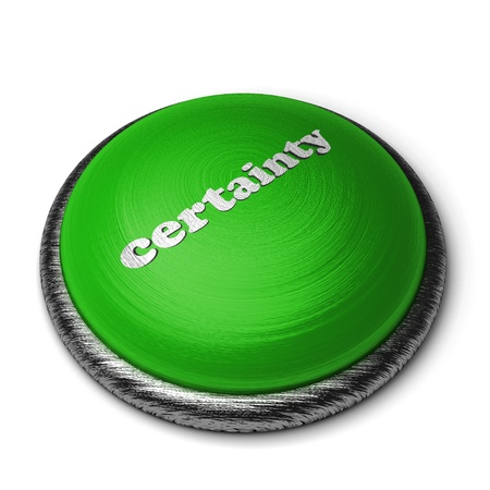certainty: Word on the button