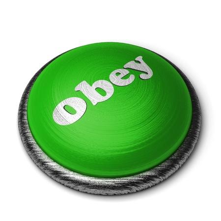obedecer: Palabra en el botón