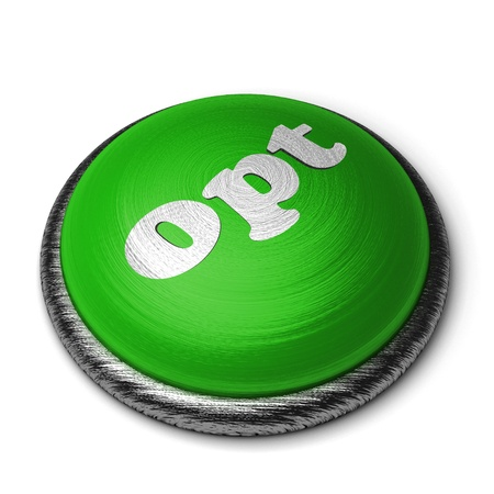 opt: Word on the button