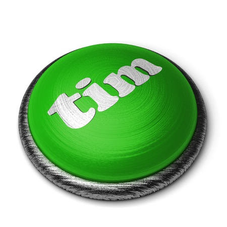 Word on the button Stock Photo - 11820390