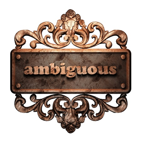 ambiguous: Word on bronze ornament