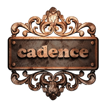 cadence: Word on bronze ornament
