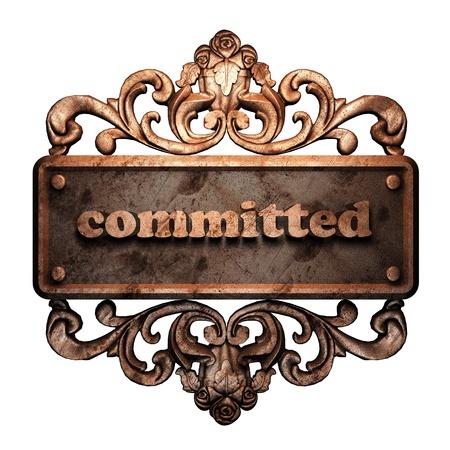Word on bronze ornament Stock Photo - 11901235