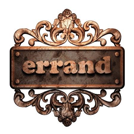 errand: Word on bronze ornament