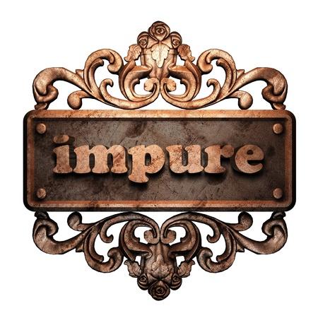 impure: Word on bronze ornament