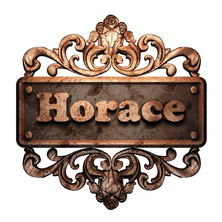 horace: Word on bronze ornament