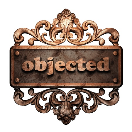 objected: Word on bronze ornament