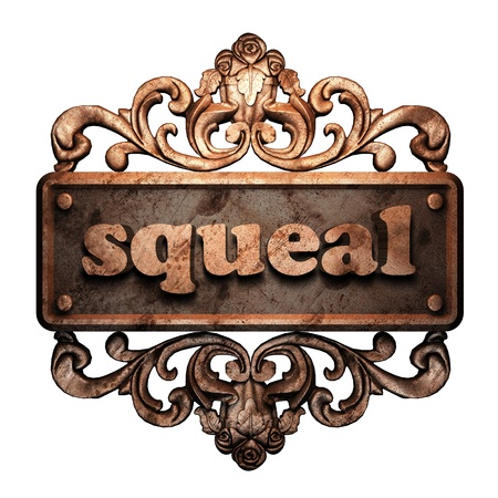 squeal: Word ornamento in bronzo