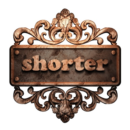 shorter: Word on bronze ornament
